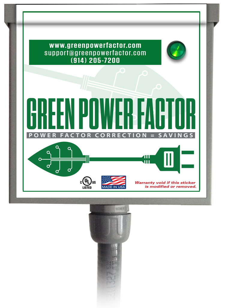Green Power Factor Unit Illustration Installed
