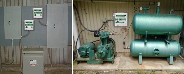 Commercial Green Power Factor Units installed in industrial settings