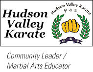 Peter Antonelli is a 5th-degree Black Belt, and runs the Hudson Valley Karate Martial Arts school