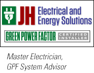 JH Electrical is a Green Power Factor Certified Installer